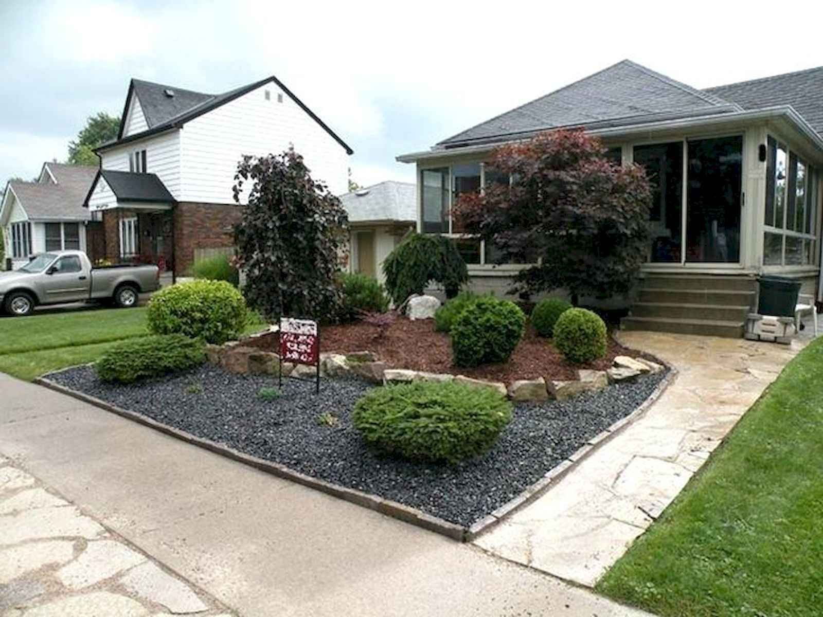 60 Stunning Low Maintenance Front Yard Landscaping Design Ideas And Remodel For Summer Small Front Yard Landscaping Front Yard Landscaping Design Small Yard Landscaping