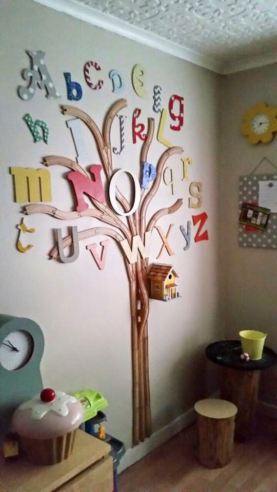Alphabet Train Track Tree