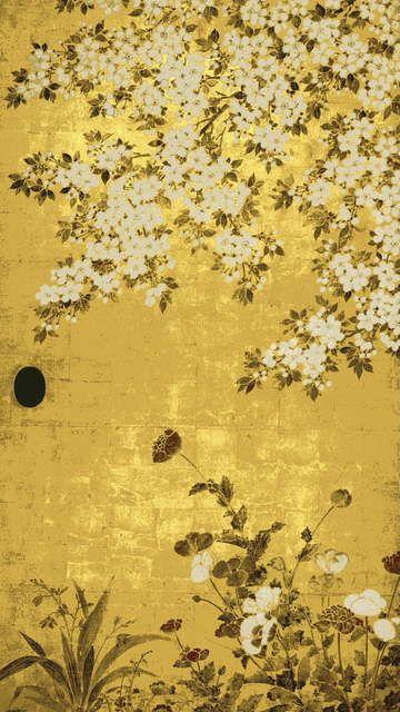 by Tawaraya Soutatsu/ Sliding Door painting.