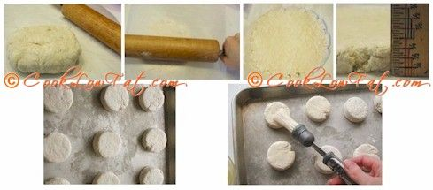 How to make low fat easy biscuits. Just click on the pics to get the delicious recipe from www.cooklowfat.com