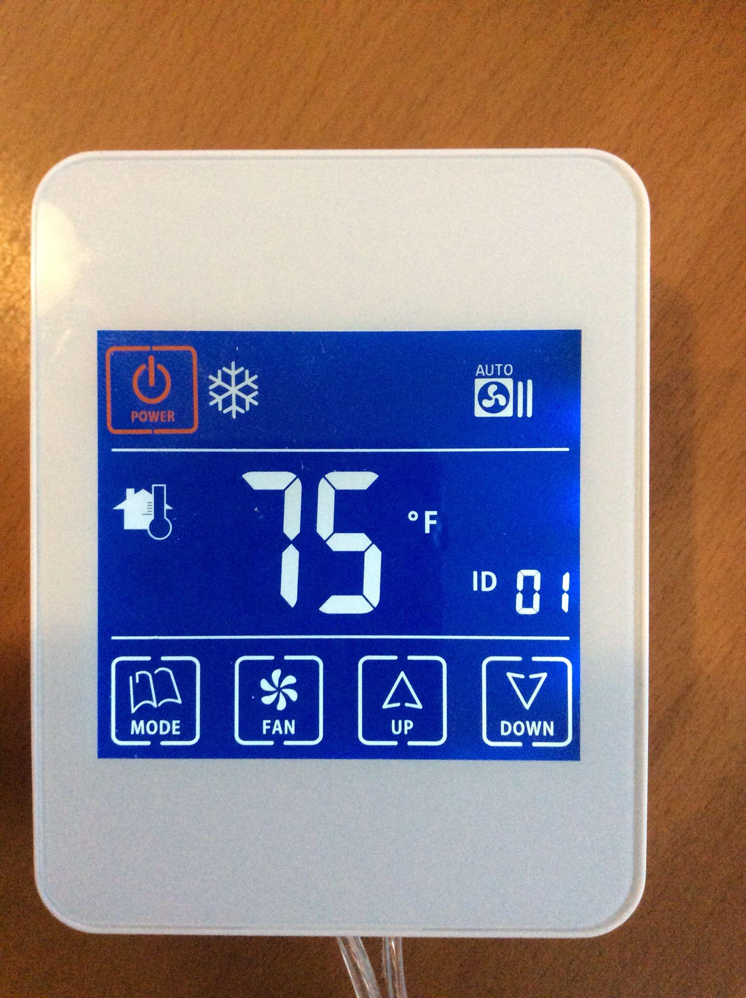 Termostato de pantalla táctil Acondicionado