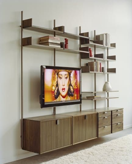 shelving systems for home office. Atlas AS4 Wall Mounted TV Stand, Home Office, And Library Shelving System Systems For Office C