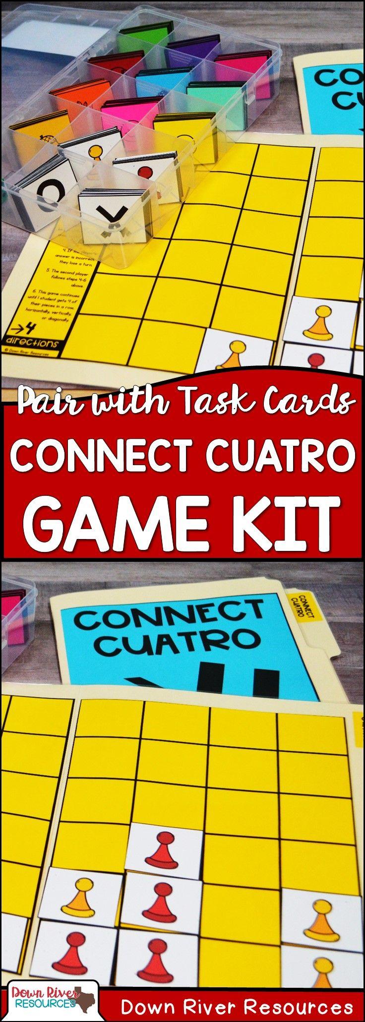 Connect Cuatro Test Prep Review Game Board Set | STAAR | PARCC ...