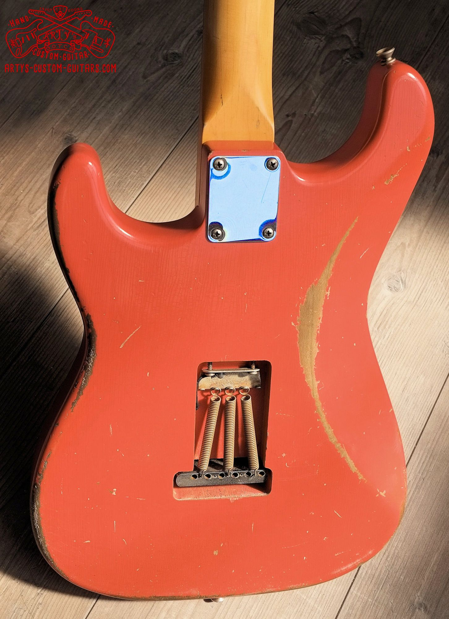 Stratocaster 62 heavy relic Fiesta Red Artys Custom ... on