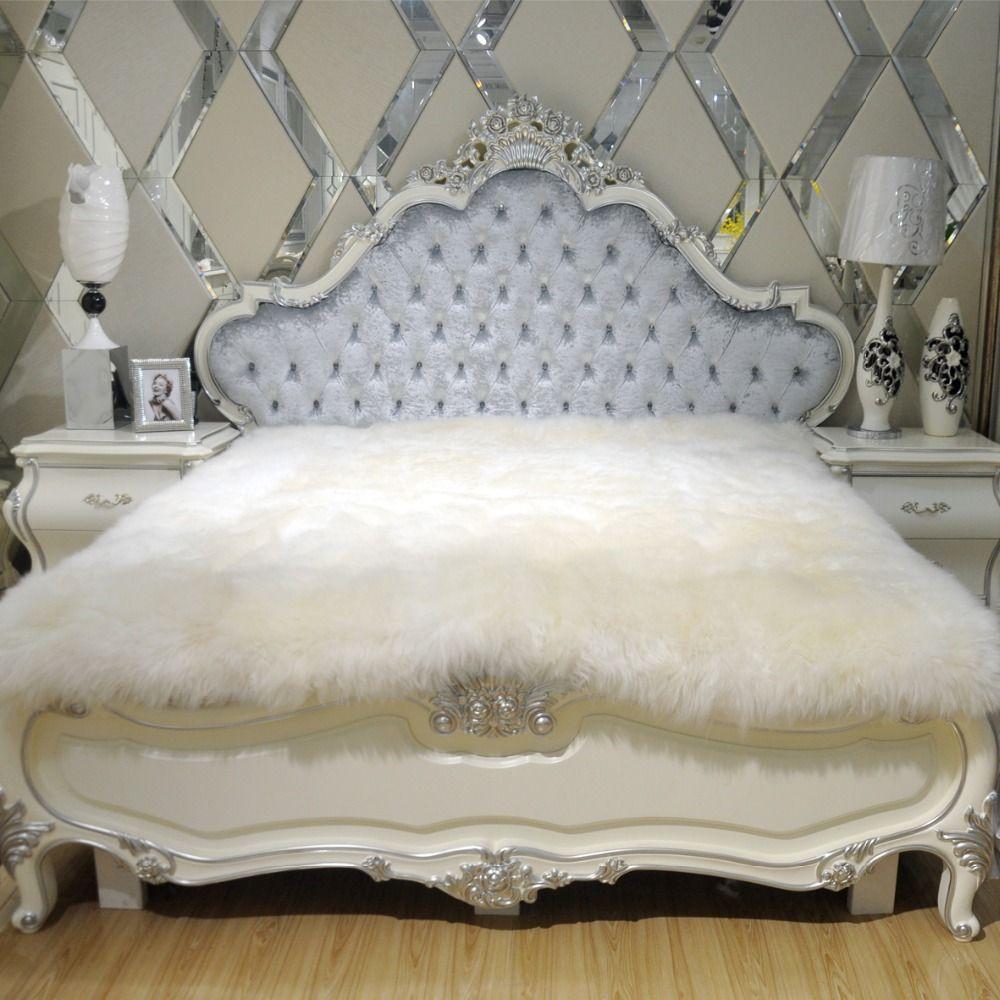 100 Fur Sheepskin Mattress Bed Fur Blanket Bed Cover Natural Wool Fleece Blankets Wool Cashmere Blanket Plush Pure Wo Fur Blanket Bed Bed Blanket Wool Mattress