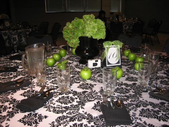 Looking For Lime Apple Green Decor Ideas Wedding Black Damask