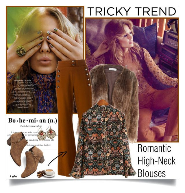 """Tricky Trend: Romantic High-Neck Blouses"" by annabu ❤ liked on Polyvore featuring Related, Chloé, Chelsea Crew, women's clothing, women's fashion, women, female, woman, misses and juniors"