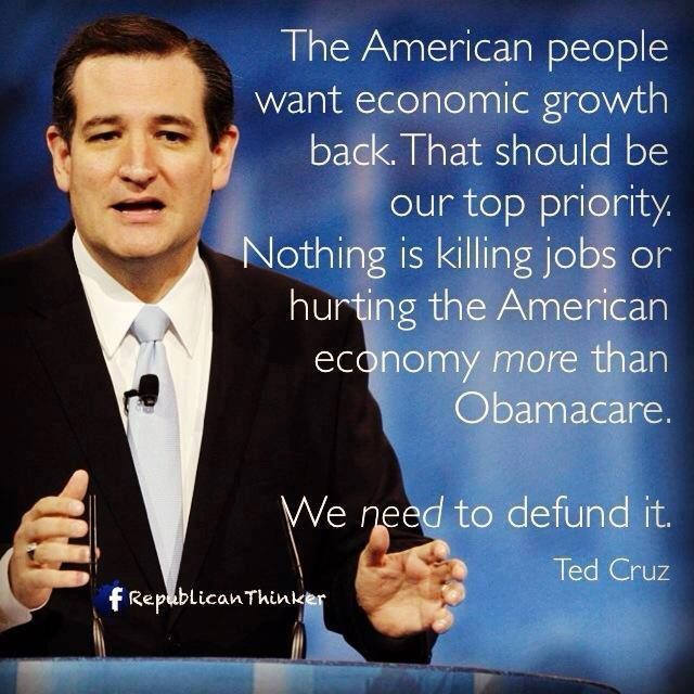 Ted Cruz Quotes Ted Cruz On Obamacare  Ted Cruz Defund Obamacare  Obamacare