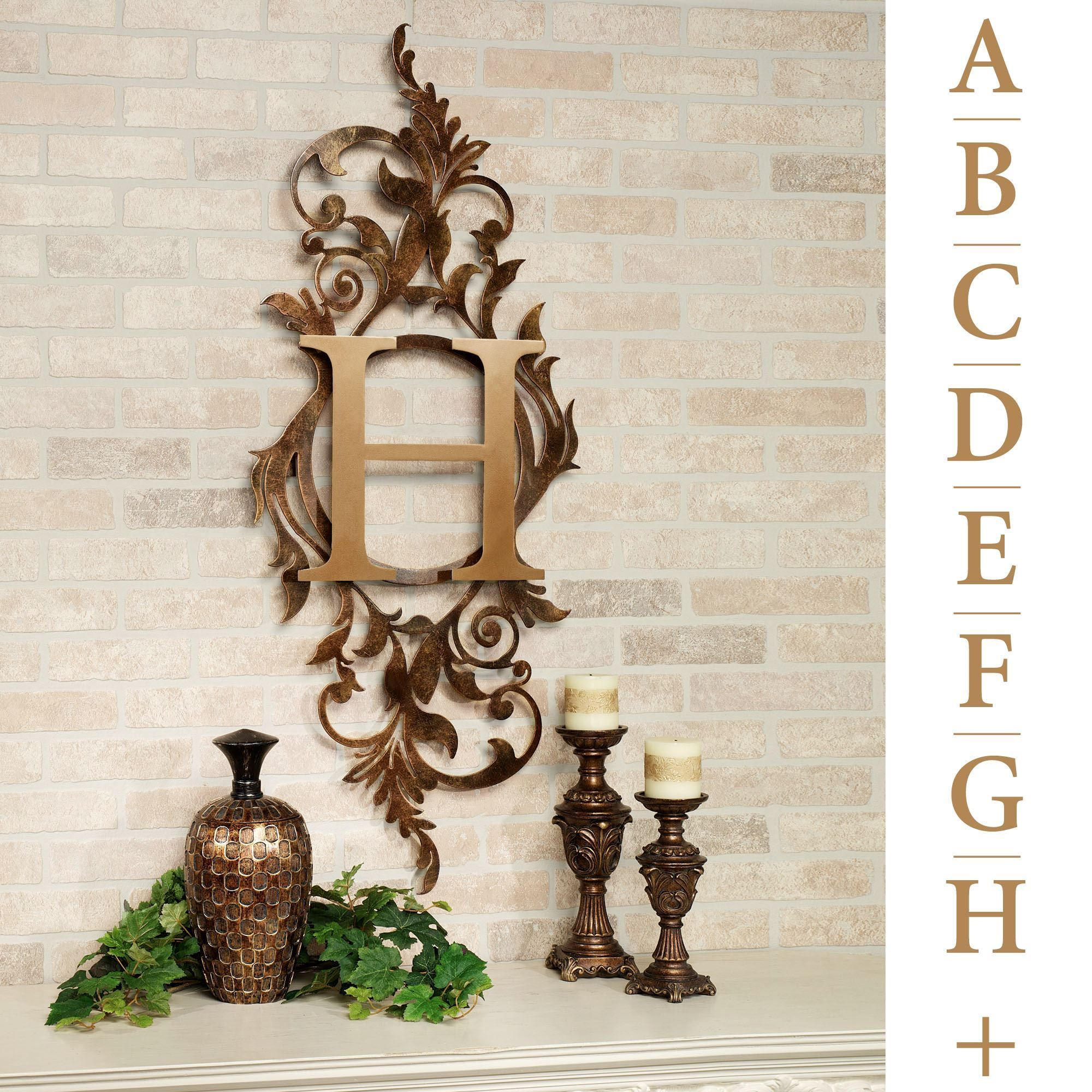 Vertical Metal Wall Art Meglynn Monogram Vertical Metal Wall Art Sign  Metal Wall Art