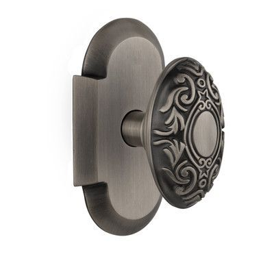 Nostalgic Warehouse Victorian Passage Door Knob With Cottage Plate Finish: Antique  Pewter