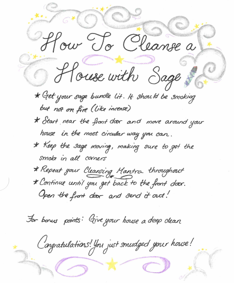 Guide To Saging Smudging Your House To Cleanse It Of Pent Up Energy Free Pdf And Video Happilyeverus C Sage Smudging Smudging Prayer Sage House Cleansing