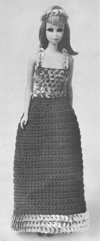 Barbie doll crochet pattern, barbie clothes, dolls clothes, vintage knitting pattern, barbie knits, printable pdf instant download 1960s #crochetedbarbiedollclothes