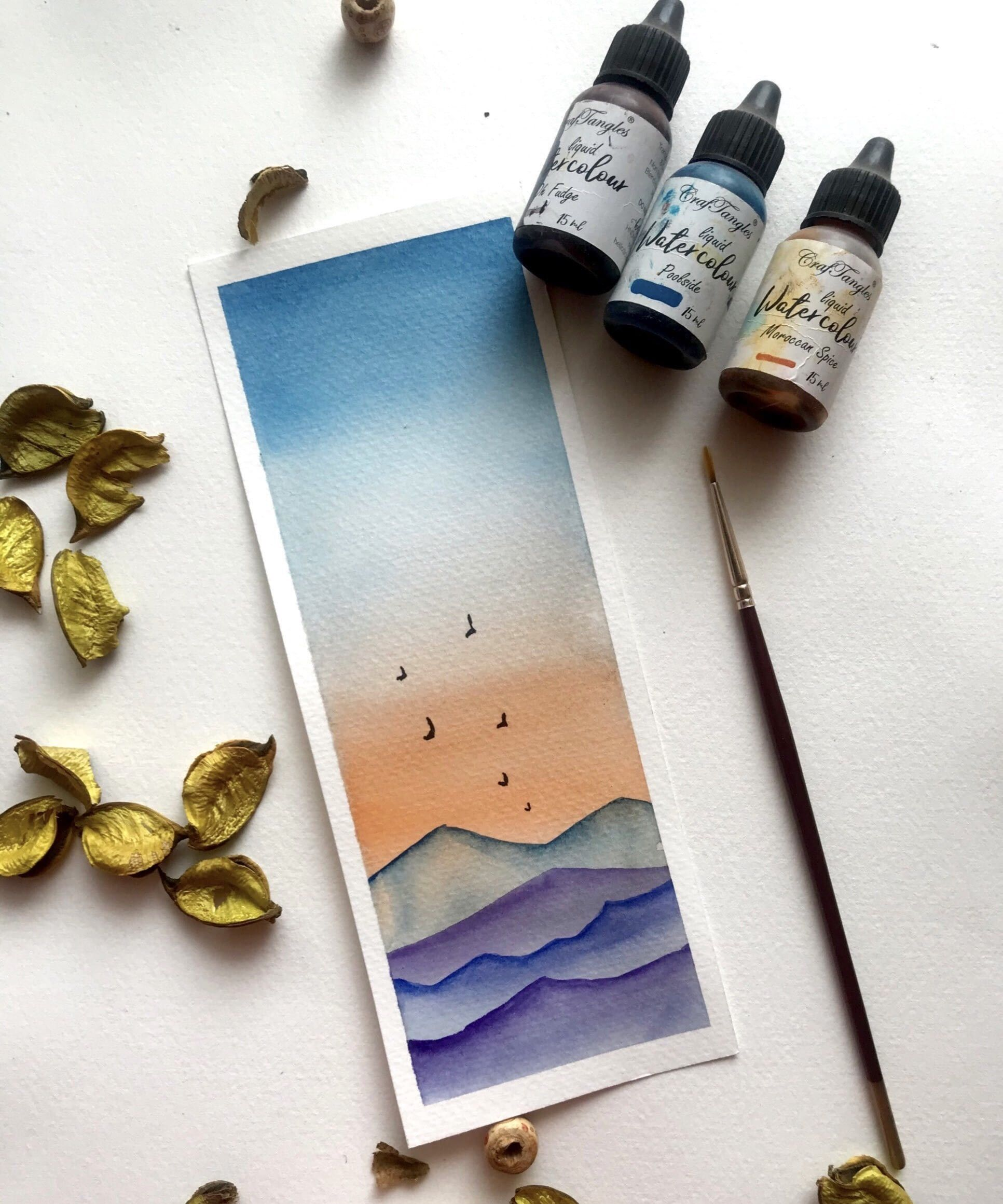 A Diy Watercolour Bookmarks Tutorial In 2020 Watercolor