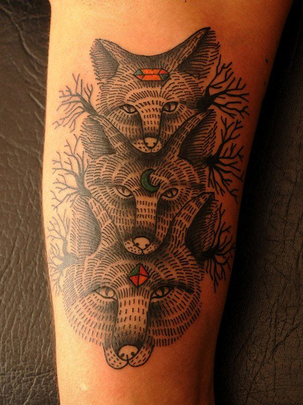 Diseño basado en una ilustración - 50  Awesome Animal Tattoo Designs  <3 <3