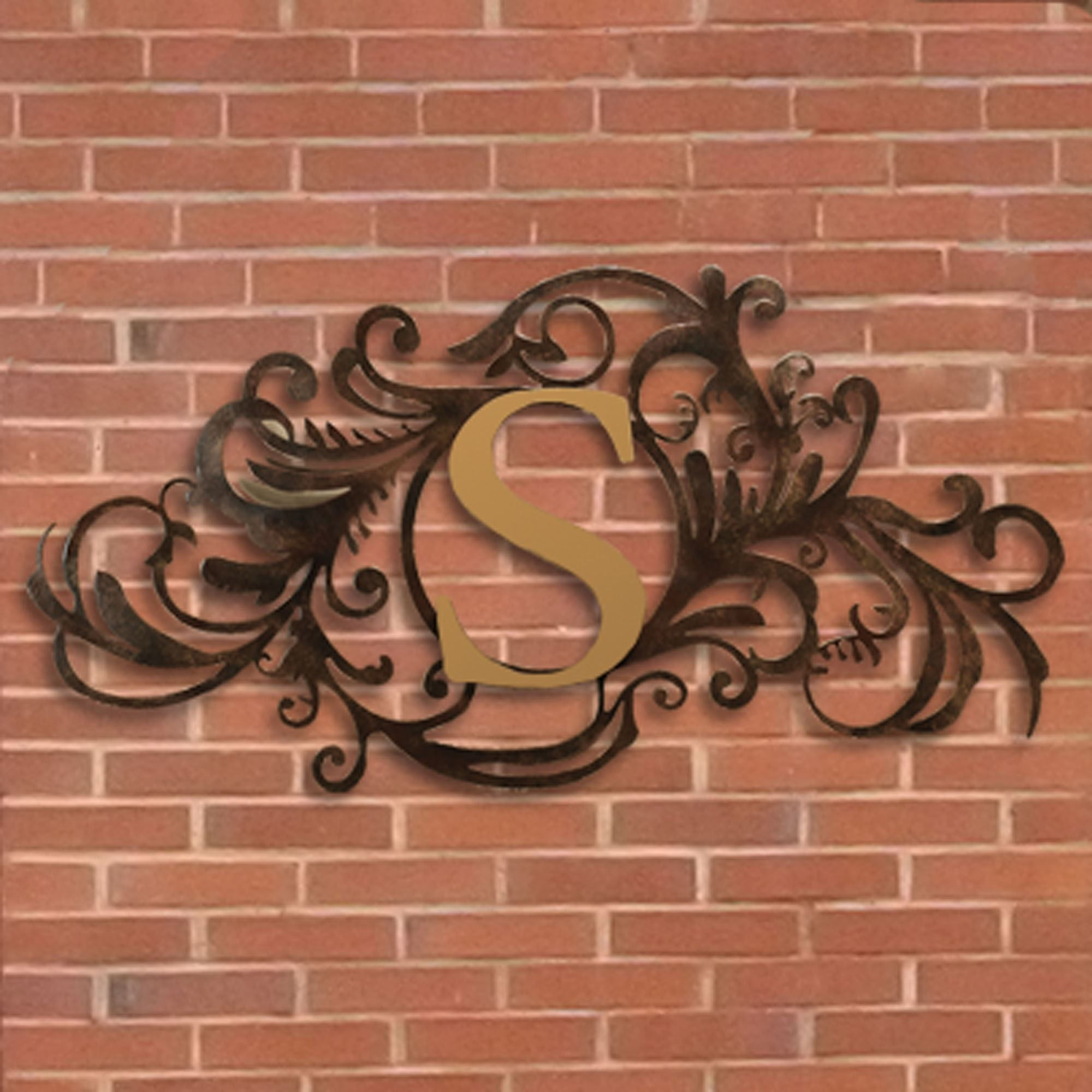 Attractive Evanston Indoor Outdoor Monogram Metal Wall Art Sign