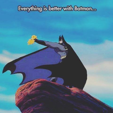 Feel the wind simba ! #Dc #dcu #batman #thedarkknight #thelionking  #disney #crossover #batmanfans #dcfans #comics #comicbooks #nostalgia