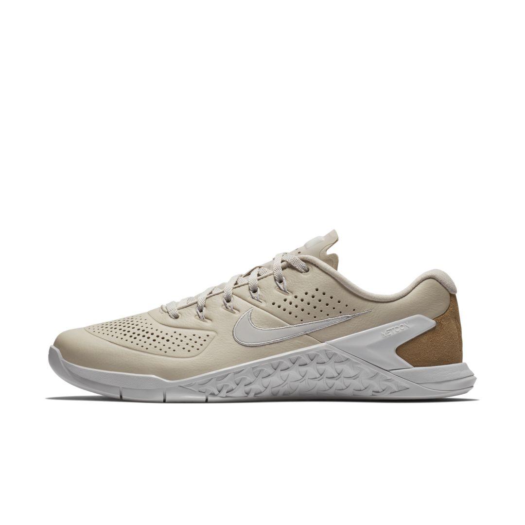 54bfa8b223b0 Nike Metcon 4 AMP Leather Men s Cross Training Weightlifting Shoe Size 10.5  (Desert Sand)