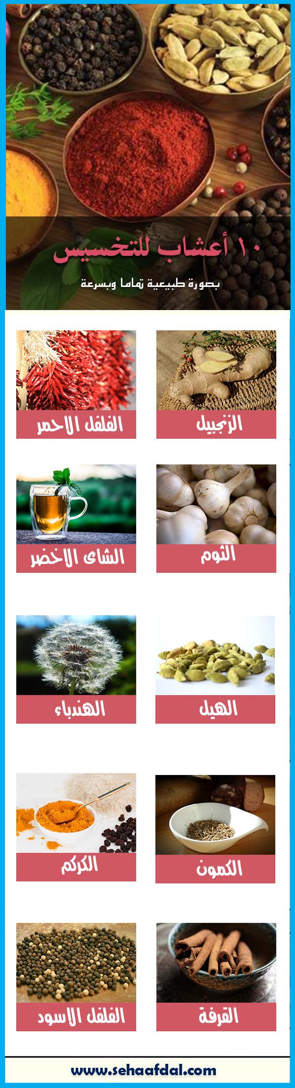 10 أعشاب للتخسيس لتنحيف الجسم وحرق الدهون بشكل طبيعي وفعال Health