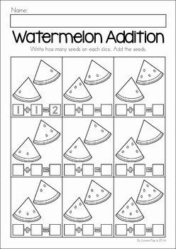 math worksheet : summer review preschool no prep worksheets  activities  : Addition Review Worksheets