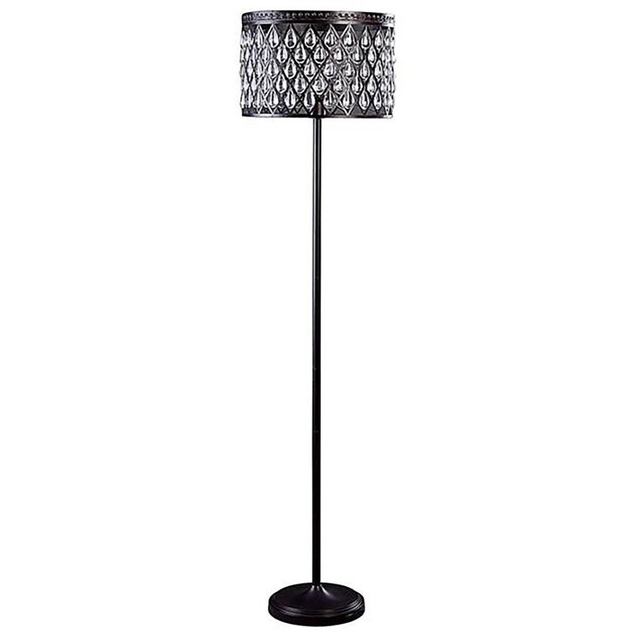 Allen Roth Eberline 60 5 In Bronze Indoor Floor Lamp With Metal Shade Indoor Floor Lamps Low Floor Lamp Metal Shades