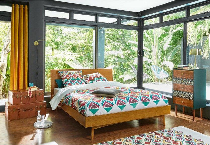 lit vintage 180x200 en ch ne portobello lit maisons du. Black Bedroom Furniture Sets. Home Design Ideas