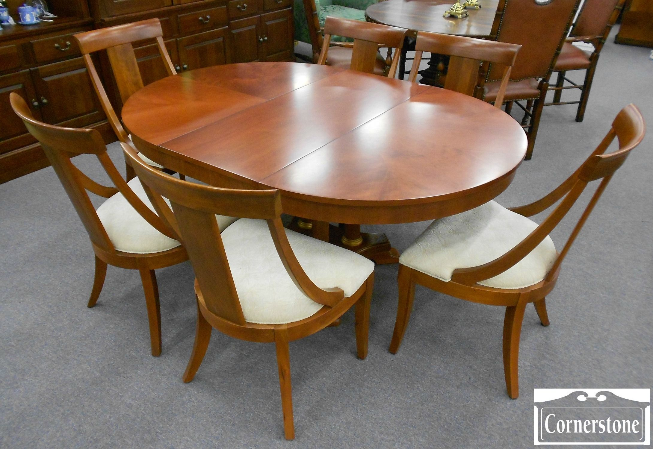 Ethan allen round cherry dining table argharts