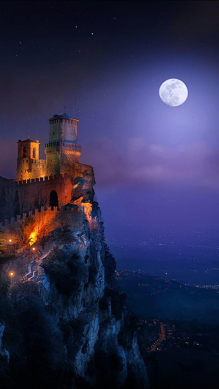 Night of the full moon Night sky wallpaper, Iphone