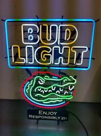 Bud Light Florida Gators Neon Sign Ncaa