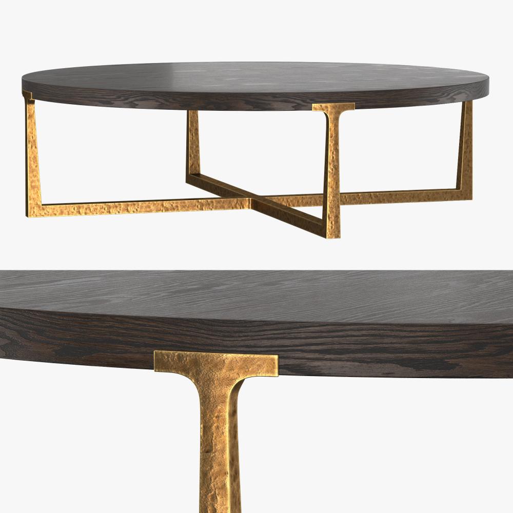 T Brace Round Coffee Table 55 3d Model In 2021 Coffee Table Round Coffee Table Table [ 1000 x 1000 Pixel ]