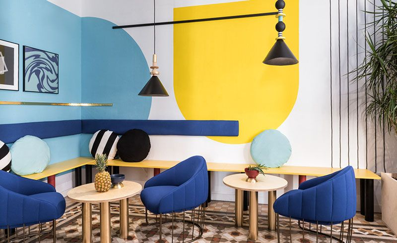 Wall Decor Inspiration - Bold Graphics Cover The Walls Of This ...
