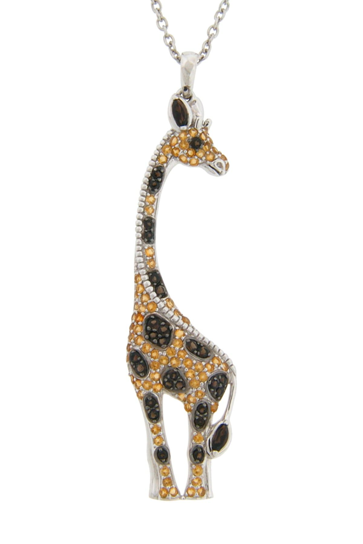 sterling jewelry swarovski crystaluxe giraffe with plated shipping orders over overstock on silver elements product watches gold pendant free in crystals