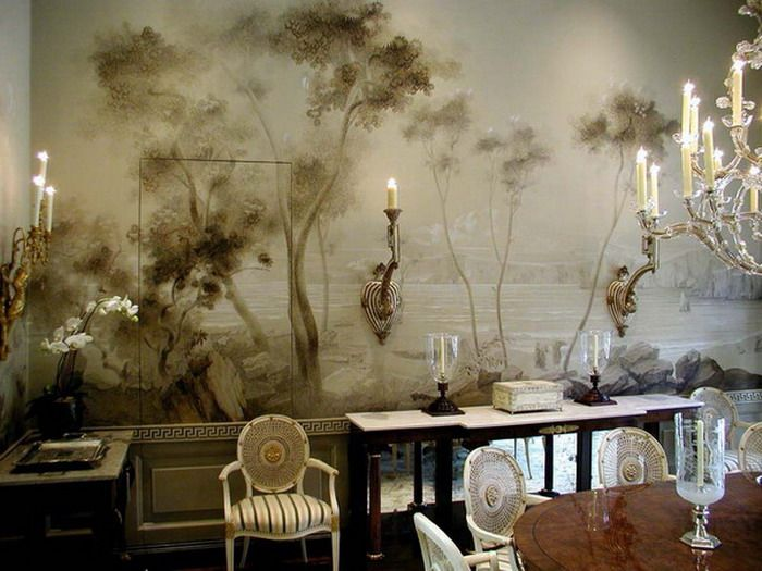 Classic style dining room mural | Favorite Dining Rooms ...