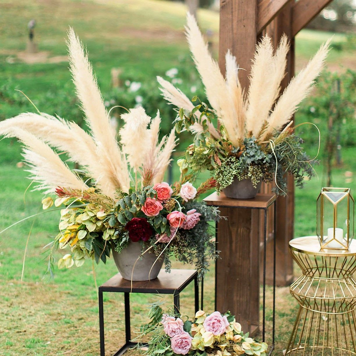 Dried Pampas Grass Diy Wedding Flowers Boho Wedding Decorations