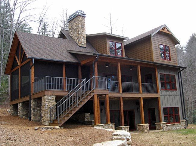 4 Bedroom Rustic House Plan with Porches is part of bedroom Aesthetic Rustic - Stone Ridge Cottage by Max Fulbright is a rustic mountain house plan with porches and an open floor plan designed to take advantage of wasted space