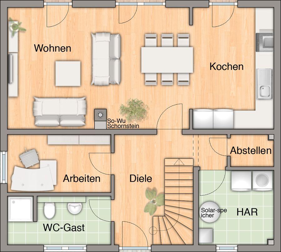 flair125-offene-kueche-arbeitszimmer-gaeste-wc-dusche.jpg (900×807 ...