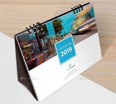 20308814-Desk Calendar 2019 1   Desain, Meja