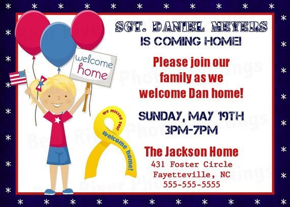 Military Homecoming Party Invitation Printable Deployment you try