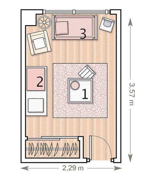 El primer dormitorio del beb floorplans pinterest for Plano habitacion online