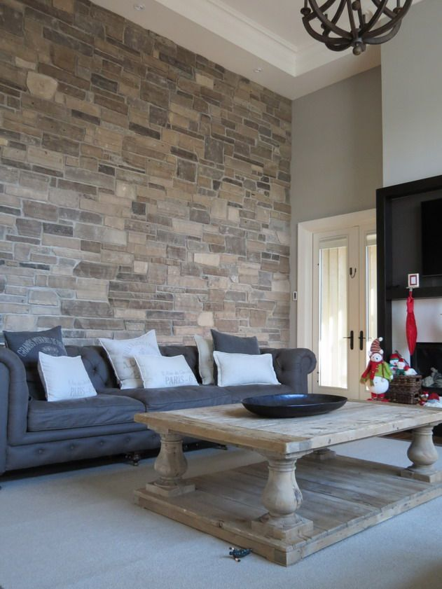 Living Room Feature Wall Decor: What An Amazing Stone Feature Walls In Accents Living