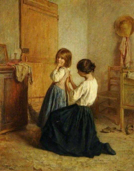 Pierre Edouard Frère - Sewing on a Button -