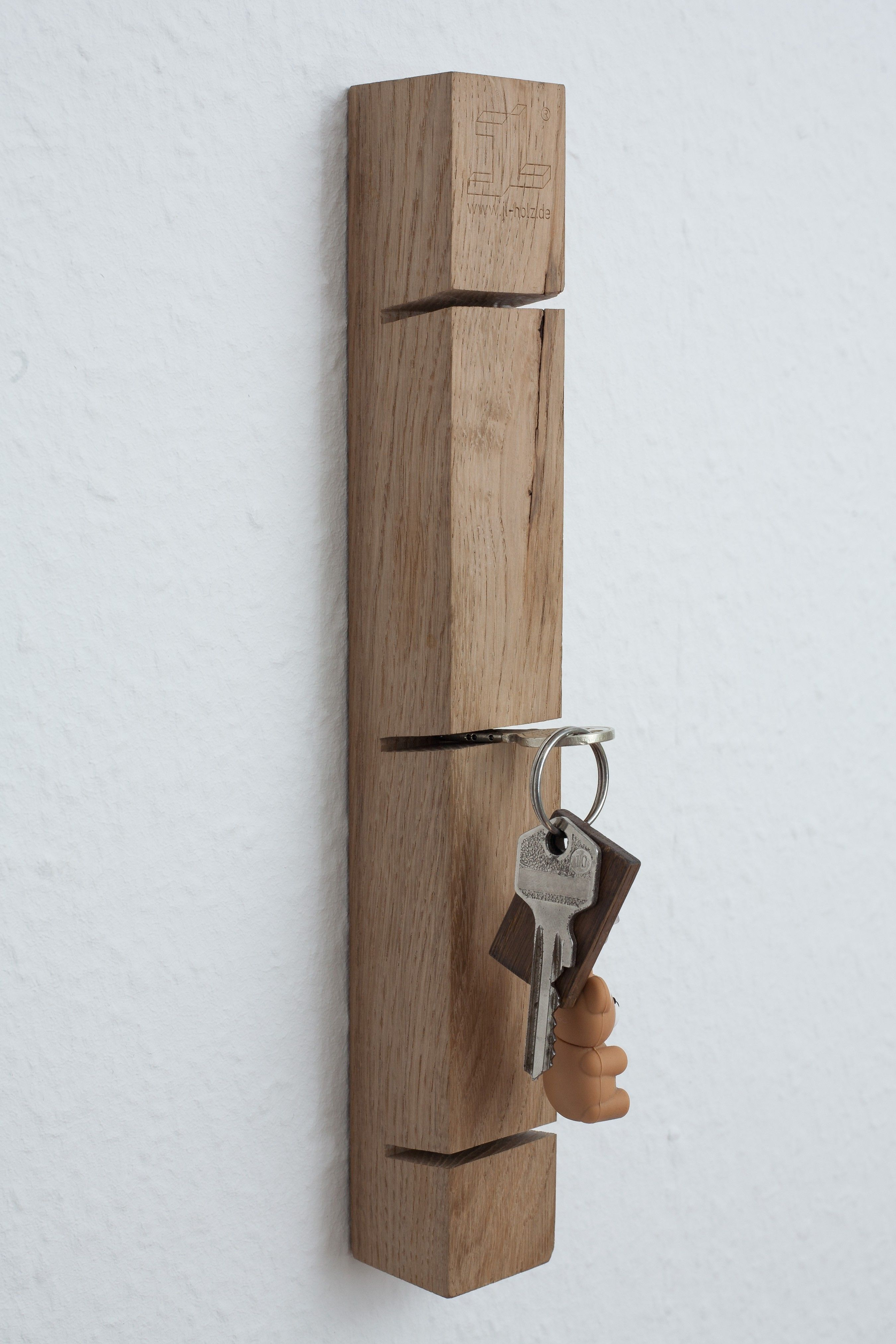 jl-holz schlüsselbrett (eiche vollmassiv) | woodworking, interiors