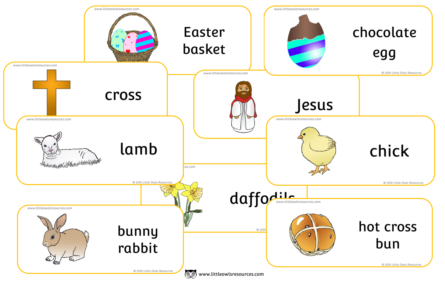 Free Easter Words Printable Early Years Ey Eyfs Resource