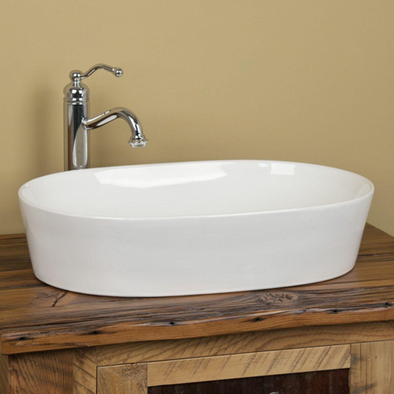 Norris Oval Vessel Sink White Bathroom Sinks Bathroom Vessel Sink Bathroom Oval Vessel Sink Bathroom Sink