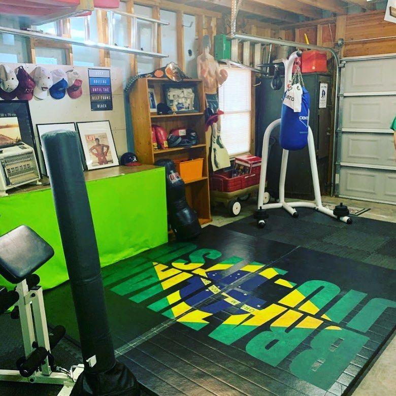 Bjj Garage Gym In 2020 Garage Gym Jiu Jitsu Mats Jiu Jitsu Gym