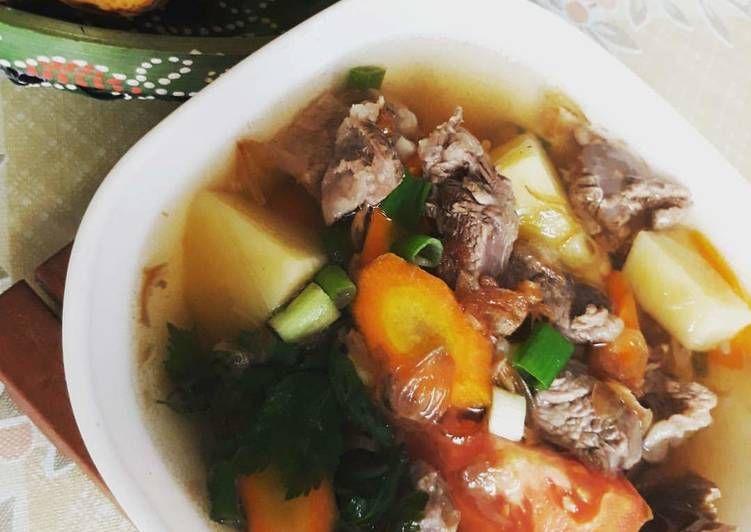 Sop Daging Sapi Daging Resep Masakan Daging Sapi