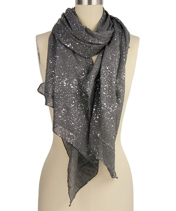 Look at this Gray Shimmer Scarf on #zulily today!
