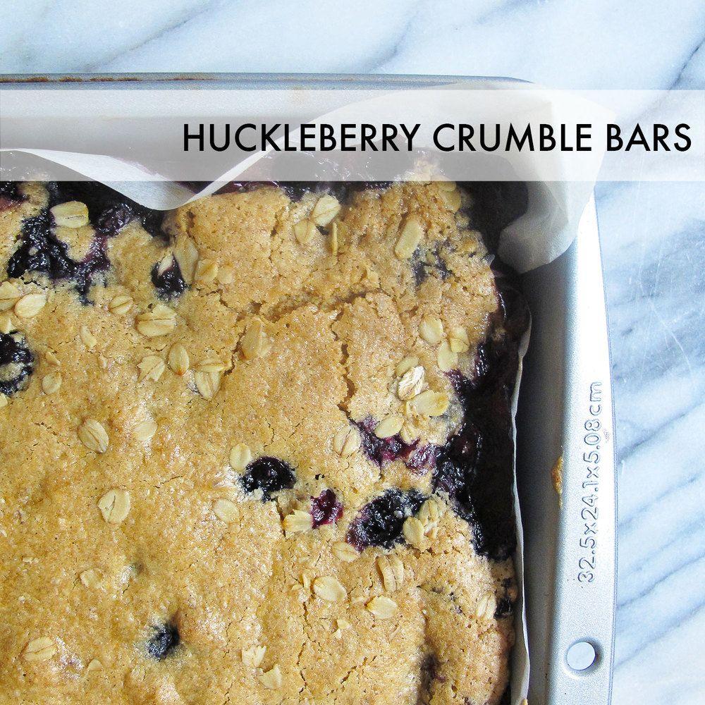 Huckleberry Crumble Bars // Bubble Girl Bakes // #glutenfree #allergenfree #vegan