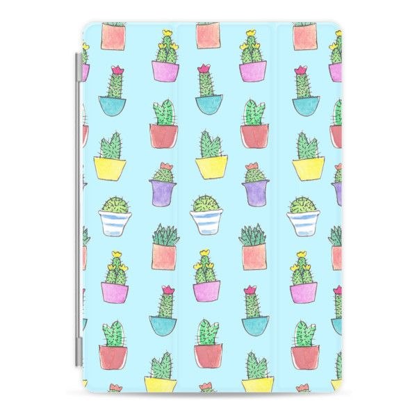 iPad Cover / Case - Little Cacti Blue for Ipad ($50) ❤ liked on Polyvore featuring accessories, tech accessories, ipad cover / case, apple ipad cover case, apple ipad case, ipad cover case, ipad sleeve case and ipad case