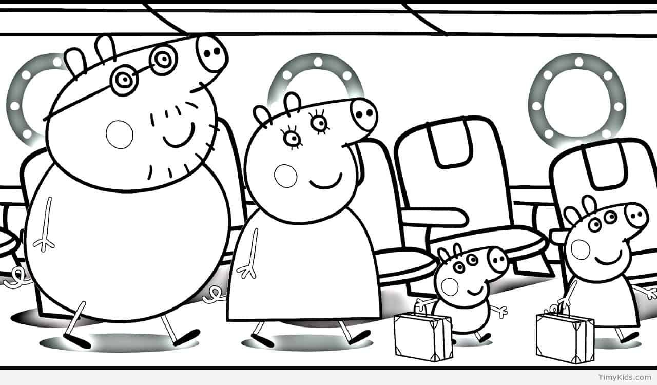 Timykids Peppa Pig Coloring Pages