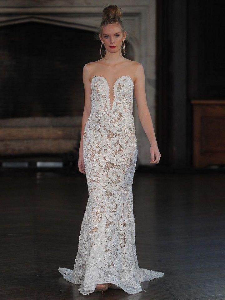 Berta sheer lace wedding gown | itakeyou.co.uk #wedding #weddingfashion #bridal #weddingdress #weddinggown #bridalgown #weddingdresses #weddinggowns #berta #bridalinspiration #weddinginspiration #engaged